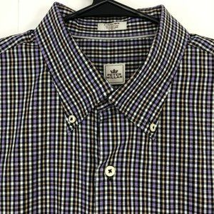 Peter Millar Mens Extra Large Plaid Button Front